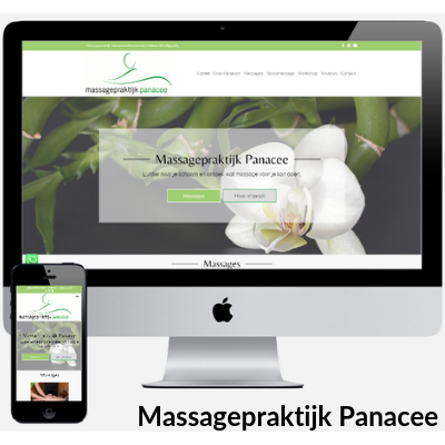 Mockup Website Massageprakijk Panacee