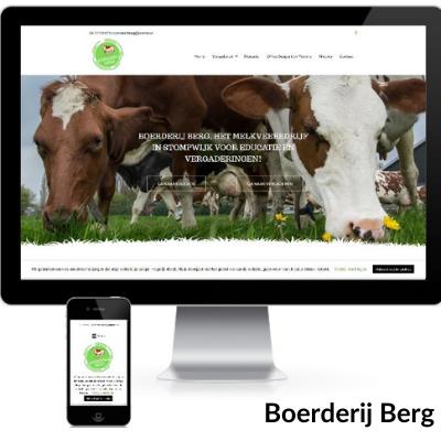 Portfolio websitee Boerderij Berg